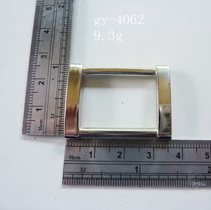 Italy Leather Goods Handcraft Metal Square Rings