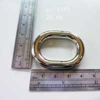 Ellipse Polished Rings White Nickel