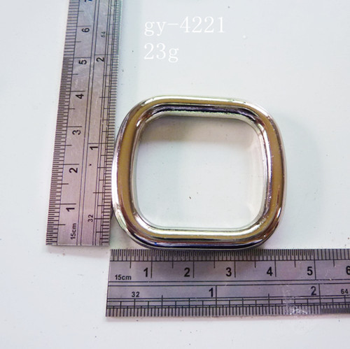 Square Ring Polished White Nickel 30Mm