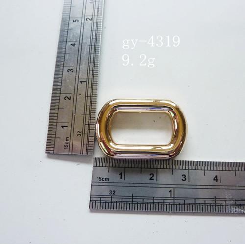 Oblong Rings Light Gold Purse Hardware