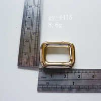 Light Gold Rings Square Ring Handbags Fittings