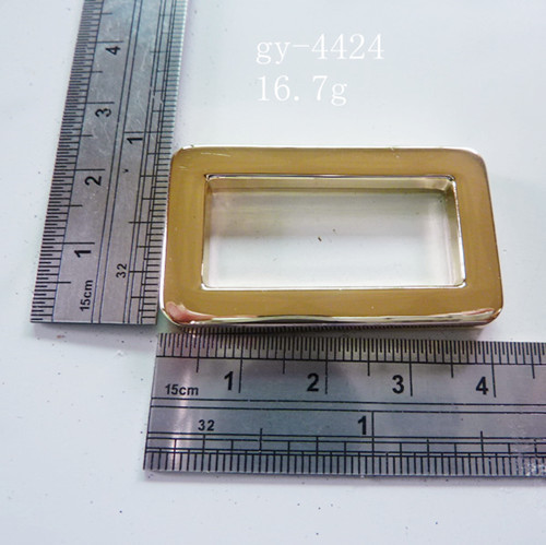 Gient Gold Square Ring Pale Gold Light Gold