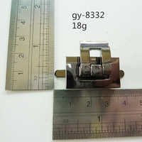 Metal Press Lock For Handbag Gun Metal