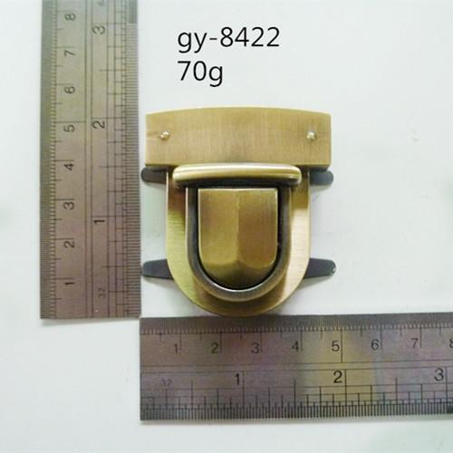 Peltate Metal Lock Antique Brush Press Lock