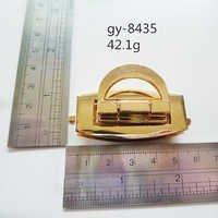 Gold Press Lock Handbags Hardware Polished