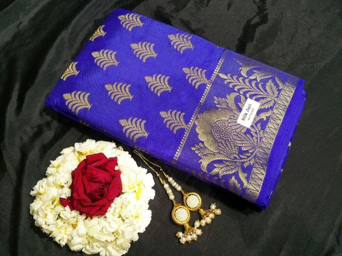Printed Tussar Silk Saree