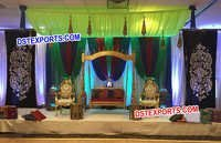 Wedding Swing Stage With Backdrop Decoration