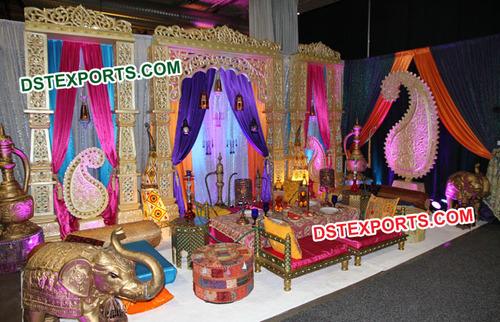 moroccan Wedding Sangeet Stage Decorations