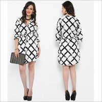 Bedazzle Women's A-line White Dress
