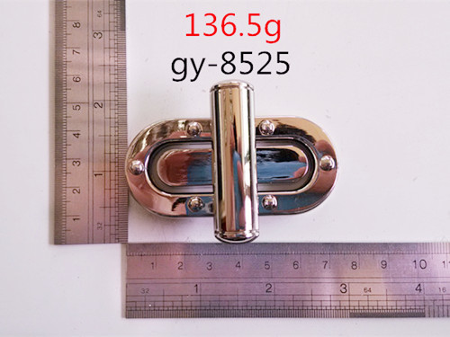 Polished Twist Lock With Rivet Luxury Leather Bags
