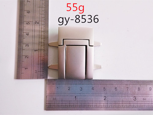 Metal Lock White Nickel Press Bags Lock