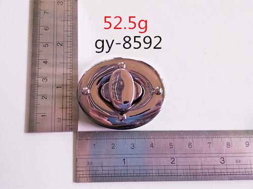 White Nickel Twist Lock Round Handbags Lock