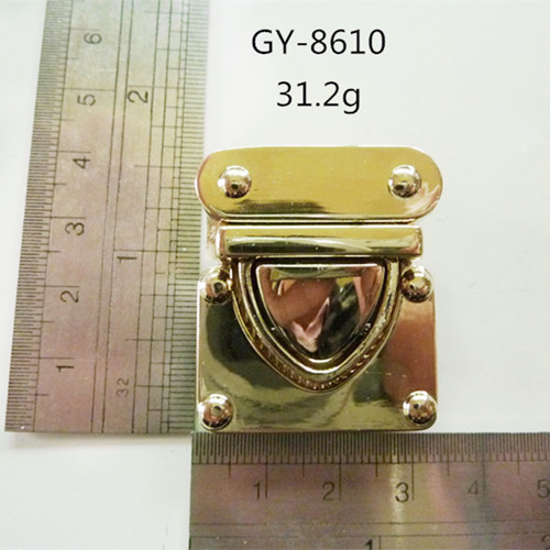 Purse Press Lock Pale Gold Metal Accessories Bags