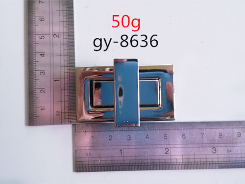 Square Twist Lock Nickel 5.5Cm
