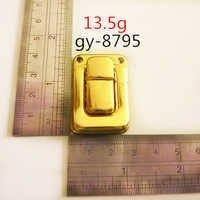 Gold Press Metal Lock Luxury Handbags Hardware