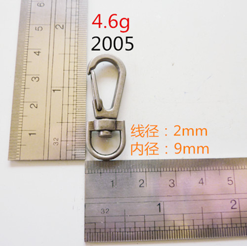 Round Dog Hook Metal Hardware For Bags