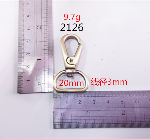 Less Moq Dog Hook Brass Italy Bags Hardware