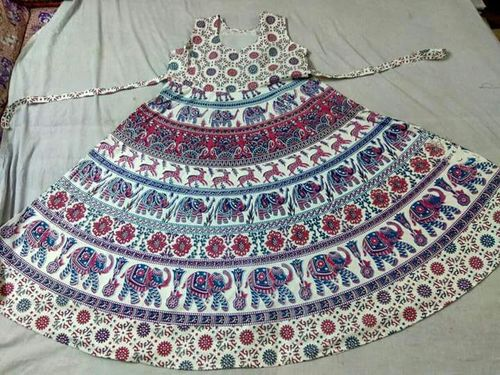 Jaipuri Print Dress