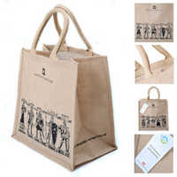 High quality reusable tote jute grocery bags