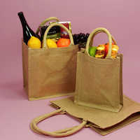 burlap bags with handles