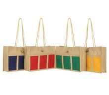 screen printed burlap bag
