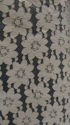 Cotton Big flower net fabric