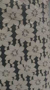 Cotton Big flower net fabric