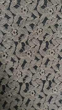 Cotton Flower Patti Net Fabric