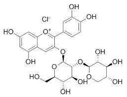 Cyanidin 3-sambubioside chloride