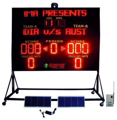 Solar Powered Multipurpose Electronic LED Scoreboard