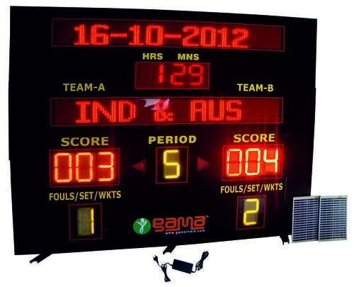 Universal Solar Wireless Scoreboard