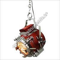 Hollywood Red Leather Pendant Lamp Ceiling Light