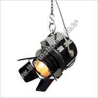 Hollywood Black Leather Pendant Lamp Ceiling Light