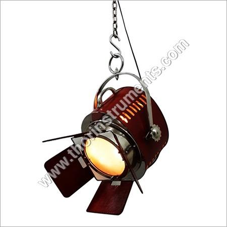 Vintage Red Leather Hanging Lamp Light Decor