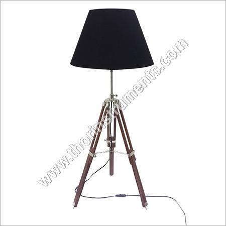 Vintage Tripod Brown Table Lamp Shade Home Decor
