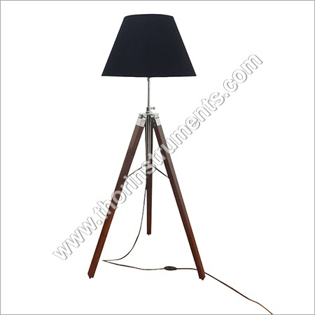 Vintage Brown Tripod Floor Lamp Shade Decorative