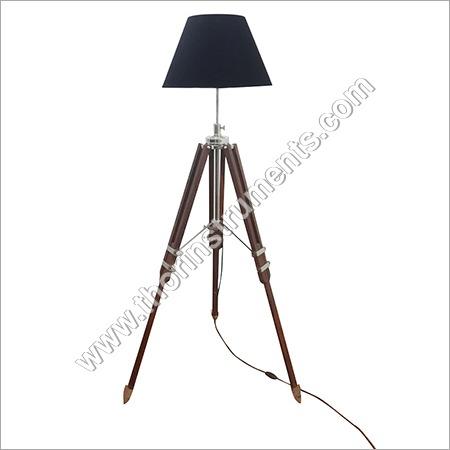 Beautiful Brown Wooden Nautical Tripod Floor Lamp