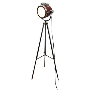 Classical Red Leather Spot Light Floor Steel Stand