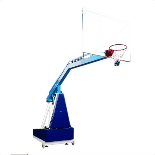 Hydraulic Spring Lock System Basketball Post