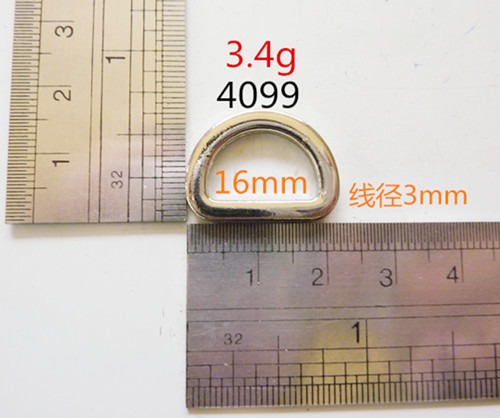 D ring nickel free zinc alloy thickness 3mm