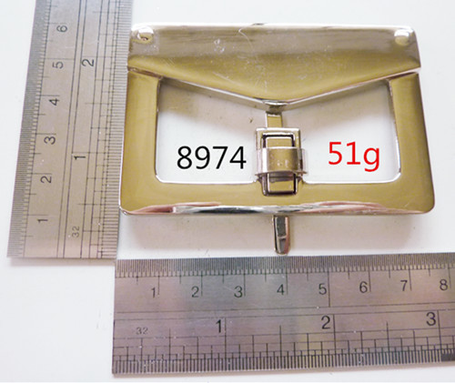 Pale Gold Press Lock For Leather Bags
