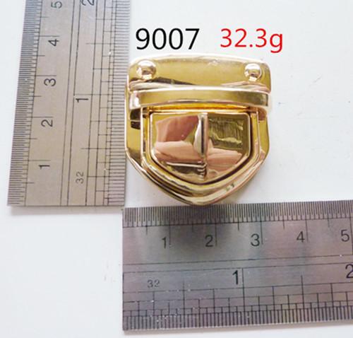 Moulded Metal Lock Gold Hardware Luxury Bags