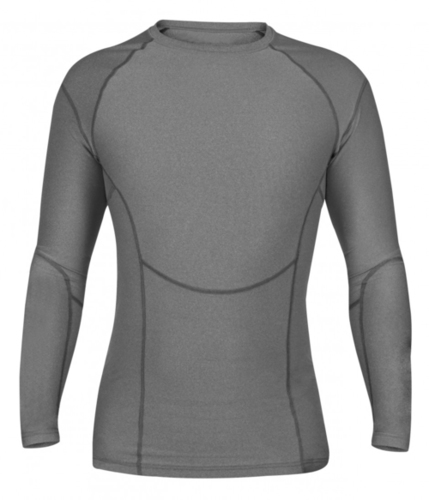 Long Sleeve Compression Top-Grey