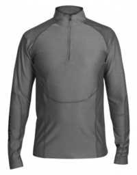 High Neck Compression Top-Grey