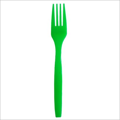 Green Disposable Fork