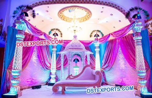 Rajwada Theme Wedding Fiber Stage Set