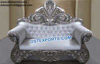 Silver Plating Wedding Two Seater Sofa