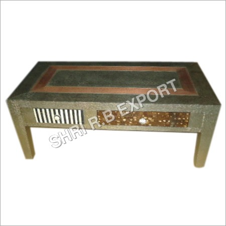 Metal With Bone Inlay Table