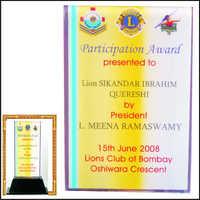 Certificate Award of Appreciation