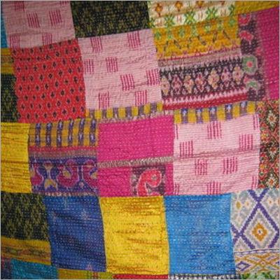 Patola Silk Patch Work Kantha Quilt